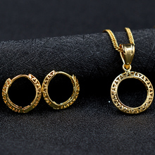 Sunny Jewelry Fashion Jewelry 2017 High Quality Bridal Jewelry Set For Women Earrings Pendant Necklace Round