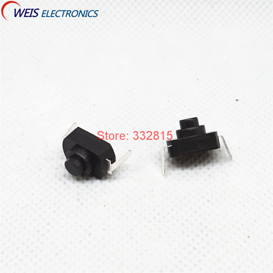 Free Shipping 100pcs Kan-10a Dc 30v 1a Round 2pin Black Mini Push Button Switch For Electric Torch 2p On-off Flashlight Switchs Lighting Accessories