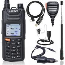 ABBREE AR F6 6 Bands Walkie Talkie Dual Display Dual 999CH Multi functional VOX DTMF SOS LCD Color Display Ham Two Way Radio