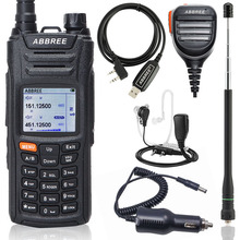 Walkie talkie abbree AR F6, display duplo, 999ch, multifuncional, vox dtmf sos, lcd, ham rádio de dois sentidos