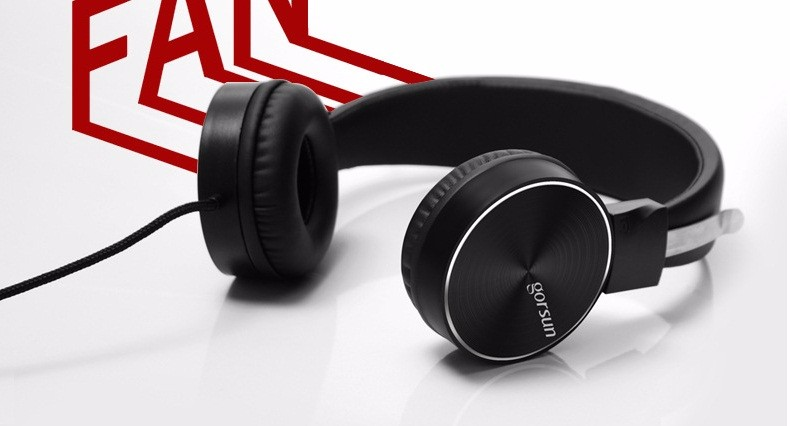 Super Bass Headphones 3.5mm Headset Earphone Volume control For Mp3 Player Computer Mobile Telephone Earphone GS-782