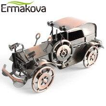 ERMAKOVA 20cm(7.8″)Metal Old Car Figurine Gran Torino Retro Vehicle Statue Runabout Handmade Car Model Gift Home Office Decor