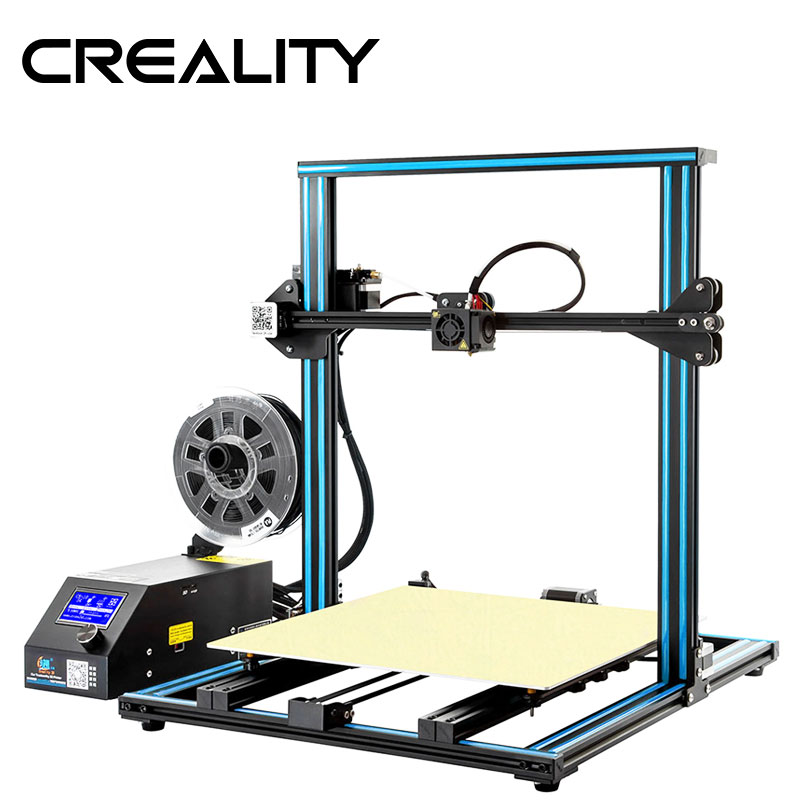 Creality 3D CR-10 Super Print Size 500*500*500mm Hot Sale Pulley Version Linear Guide DIY Kit With Free 200g Filaments Gift Квадрокоптер