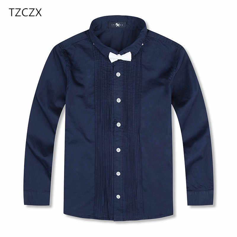 dae0b56b743 Распродажа для мальчиков рубашки европейский и американский Стиль  одноцветное 100% Детские хлопковые рубашки для От