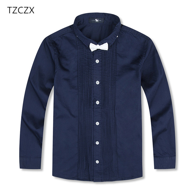 ae26788b0b1f8 On Sale Children Boys Shirts European and American Style Solid 100% Cotton  Kids Shirts For
