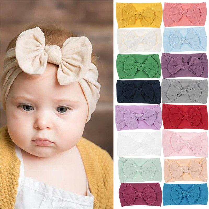 3x//Set Newborn Girl Bow Headband Ribbon Elastic Baby Headdress Kids Hair Band CN