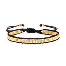 New Design Rice Bead Weave Wrap Bracelets for Women Fashion Bohemian Girls Friendship Charms Bracelet Gift Drop Shipping
