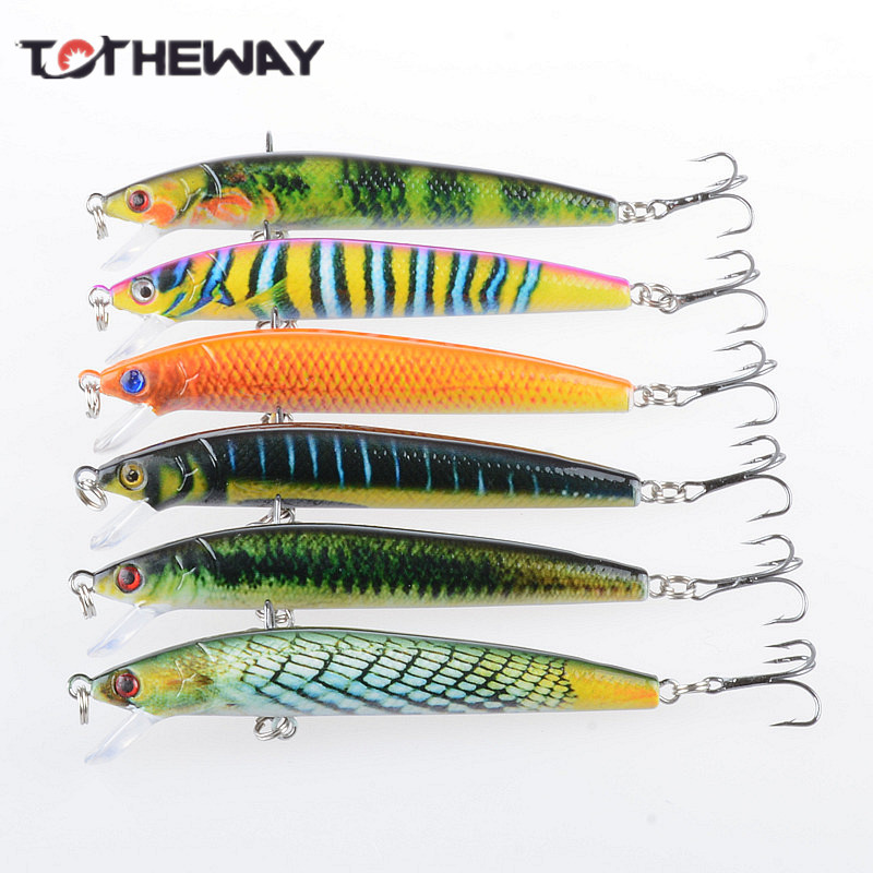 1PCS Lifelike 8.5g 9.5cm Minow Wobblers Hard Fishing Tackle Swim bait Crank Bait Bass Fishing Lures 6 Colors fishing tackle 1pcs lifelike 8 5g 9 5cm minow wobblers hard fishing tackle swim bait crank bait bass fishing lures 6 colors fishing tackle