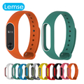 Colorful Silicone Replacement Wrist Strap for Xiaomi Mi band 2 Double Color Smart Band Wristband Bracelet