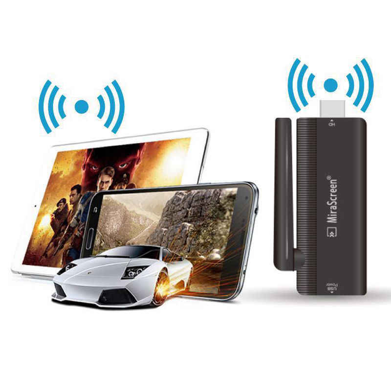 Audio Video Wireless WiFi Connection Phone to TV 1080P HDMI Video Adapter for iPad For iPhone 8 PLUS 5 6 7 Plus Android iOS