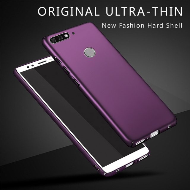 uk availability 2b0f0 6631b US $1.14 24% OFF|360 Full Protection Cover Case For Huawei Honor 7A Pro  Cover For Coque Huawei Honor 7A 7 A Pro Phone Case Hard Cover Back  Bumper-in ...