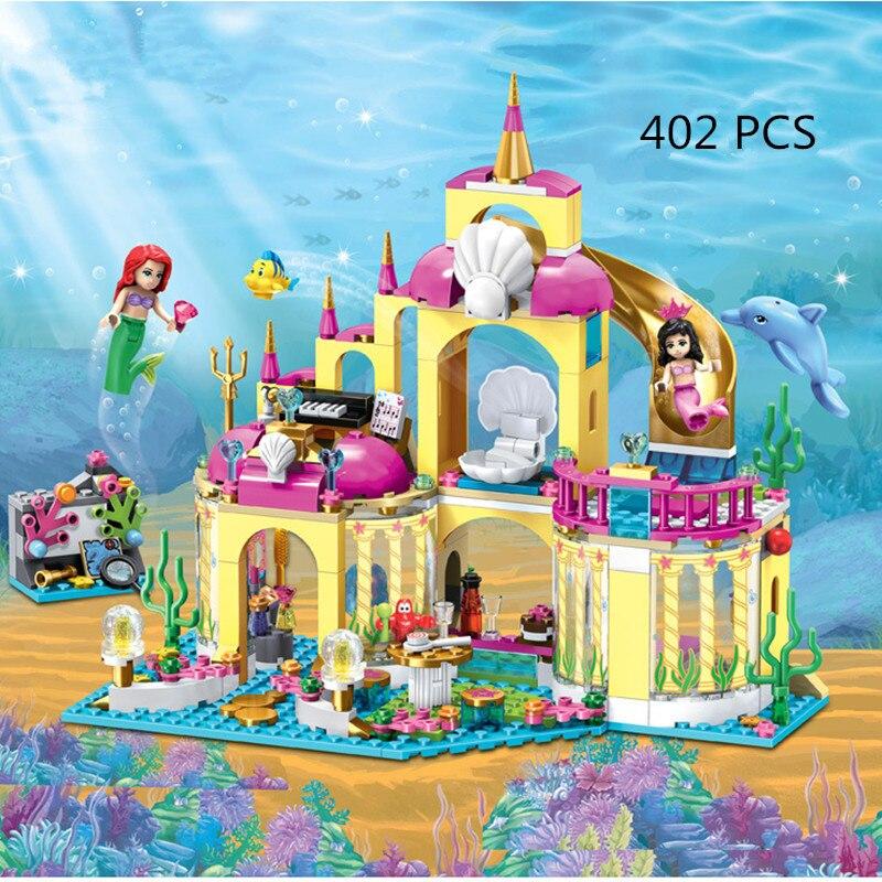 402pcs Bela Princess Undersea Palace Model Building Kits Minis Blocks Bricks Girl Toys kids Gift Compatible With Legoingly 41063 ynynoo bela 10501 233pcs princess friend elves elvendale school of dragons model building kits blocks brick with 41173