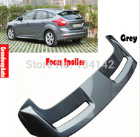 Grey Painted Rear Trunk Lip Spoiler Top Wing For Ford New Focus Hatchback 12 13