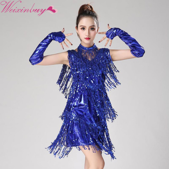 5212aeb001a5f Latin Dance Dress Women/Girls/Lady New Sexy Fringe Salsa/Ballroom/Tango/Cha  Cha/Rumba/Samba/Latin Dresses For Dancing 2018 F1