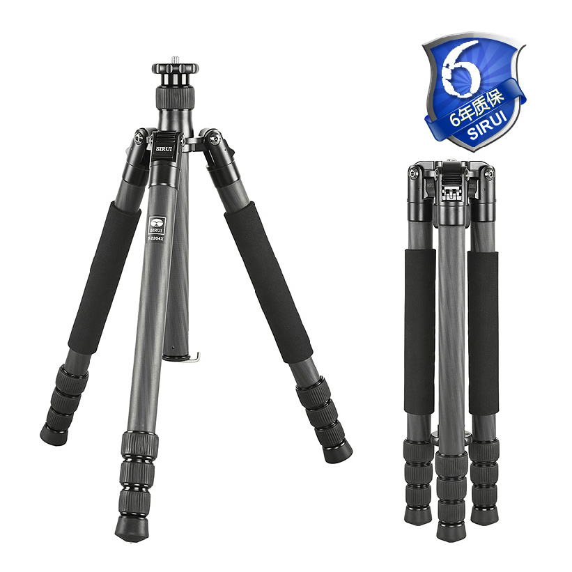Sirui Pro Camera Foot Tripod Foldable Carbon Fiber Light Outdoor Travel Extendable Go Pro Accessories Monopod Stand T-2204X штатив sirui t 005kx c 10s
