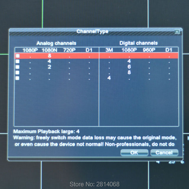 8CH Hybrid DVR NVR Wireless LAN Adapter Network Recorder Cloud Mobile P2P SDVR For IP Camera HD Analog CCTV Surveillance