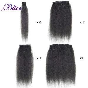 Image 4 - Blice 18 Clips In Hair Hairpieces 16 20 Inch Kinky Straight Long Synthetic Heat Resistant Hair Extensions 8Pcs/set Deal