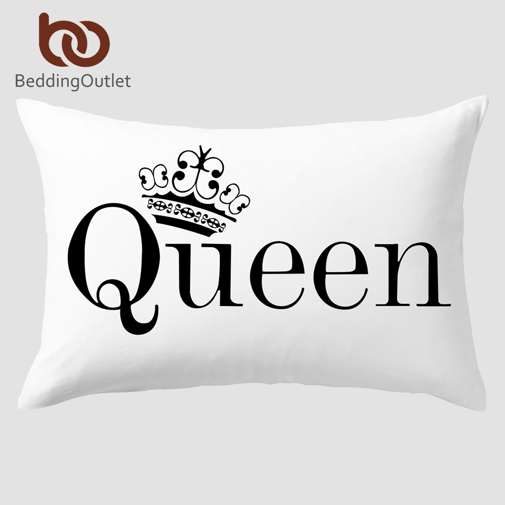 Decorative Body Pillow Covers.Us 3 99 46 Off Beddingoutlet Clearance Queen Pillowcase Decorative Body Pillow Case Plain Design Letters Bedclothes 20x30inch Pillow Cover In Pillow