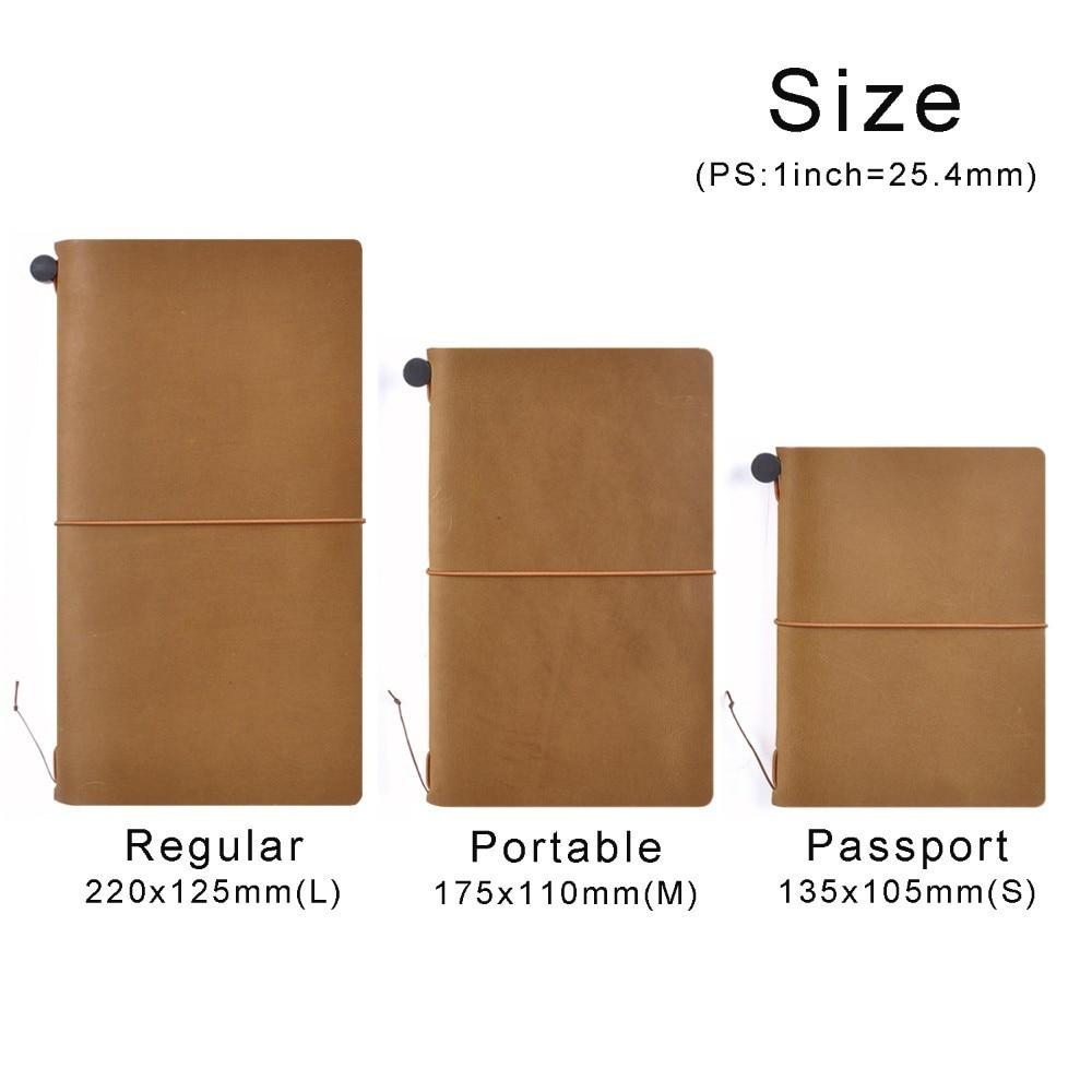 100% Äkta Läder Notebook Planner Handgjorda Travel Bullet Journal - Block och anteckningsböcker - Foto 2