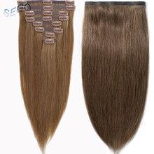 """SEGO 16-2"""" 90-110 г, Пряди человеческих волос для наращивания бесшовные ленты ПУ могут варьироваться в зависимости от пожеланий клиента в Non-несекущиеся бразильские вьющиеся волосы Remy 8 шт./компл. Однотонная одежда"""