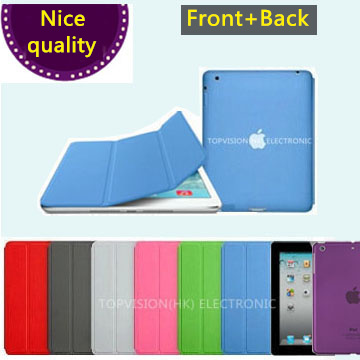 2 in 1 nice crystal back case+smart case for apple ipad mini 4 ipad 2 3 4 air 1 cover case magnetic leather slim thin flip shell