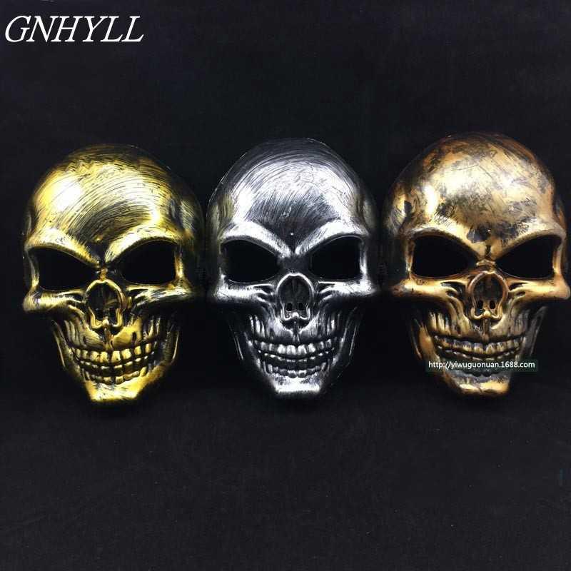 GNHYLL شبح مخيف هيكل جمجمة قناع العتيقة الأنياب الجمجمة قناع هالوين تأثيري حزب الإبداعي