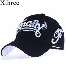 コットン野球帽の女性カジュアル男性キャスケットオム手紙刺繍 gorras [Xthree]100%