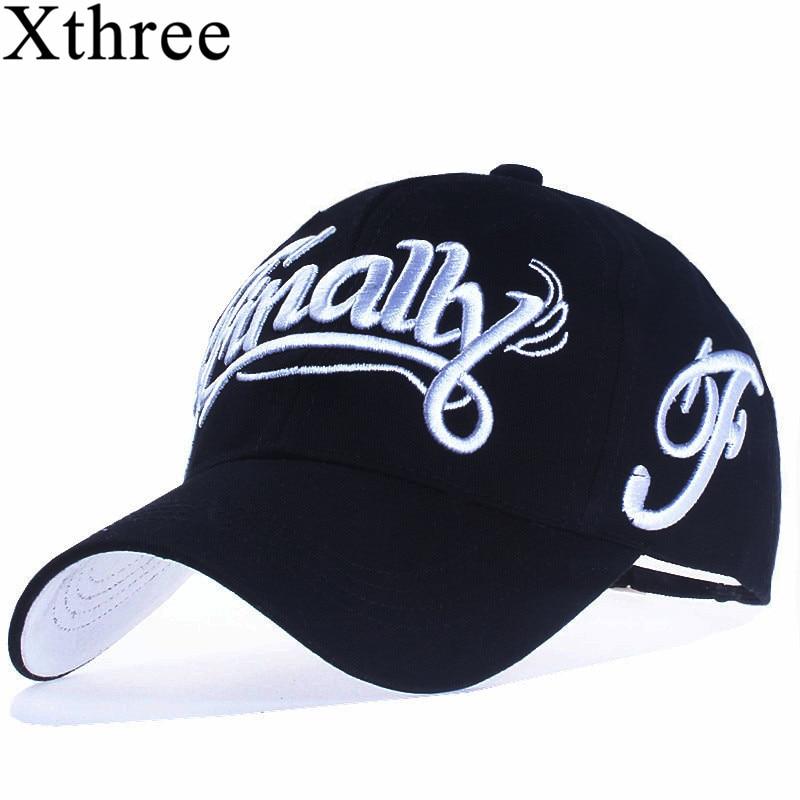 [Xthree] 100% baumwolle baseball kappe frauen casual snapback hut für männer casquette homme Brief stickerei gorras