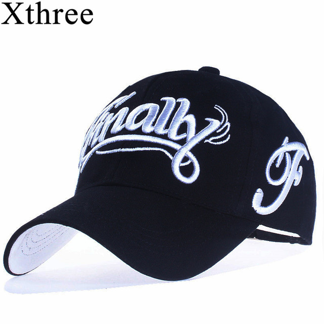 Xthree 100 cotton baseball cap women casual snapback hat for men casquette homme Letter embroidery