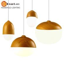Винтажная железная деревянная зернистая Подвесная лампа E27 держатель лампы 110-240 в фойе/Кофейня/столовая освещение для спальни