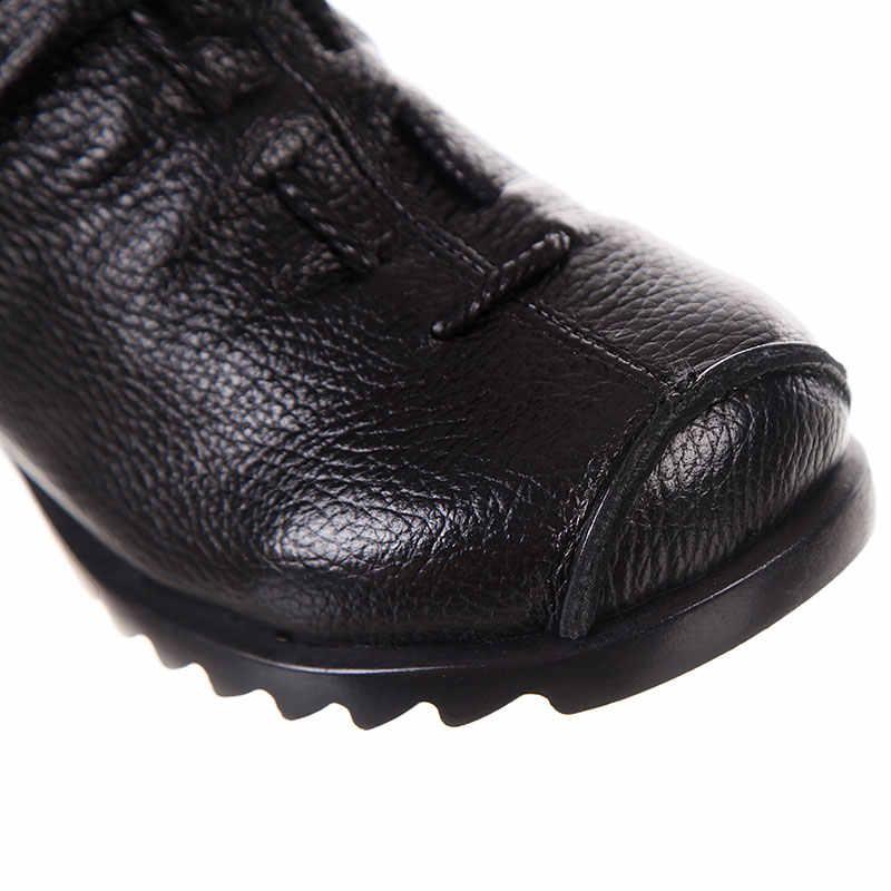 Xiuteng 2018 yüksek kaliteli Mujer Chaussure kadın hakiki deri çizmeler rahat bayan Martinshoe yaz düz çizmeler büyük boy