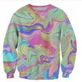 New Fashion Mens/Womens psychedelic Pasteles Funnyl 3D Print Sweatshirt  S M L XL XXL 3XL 4XL 5XL