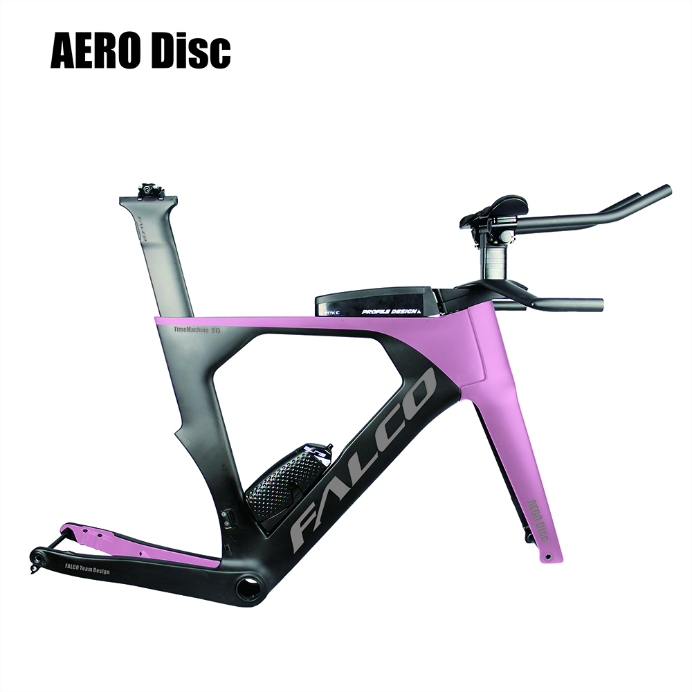 Free Shipping Falco Aero Carbon Triathlon Bike Carbon Flat Mount  BB386 With SGS TestedCarbon Time Trial Bicycle Frame TT915