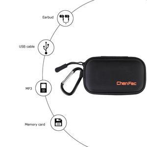 Image 4 - MP3 Çalar Durumda Dijital MP3 saklama kutusu/Çanta Veri Kablosu Paketi Fermuarlı Çanta Taşınabilir Zip Kilit Organizatör Durumda Metal karabina