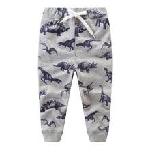 Boys Clothes Cartoon Trousers Baby Pants Cotton Autumn Toddler Dinosaur Character Children Sweaterpants