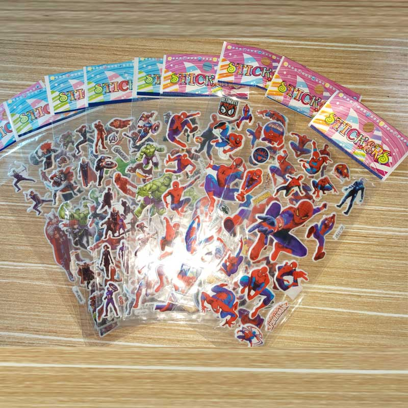 10 Sheets Avengers DIY Stickers SuperHeros Pegatinas Toy Iron Man Hulk Captain America Decals For Scrapbook Kids Gifts-in Stickers from Toys & Hobbies