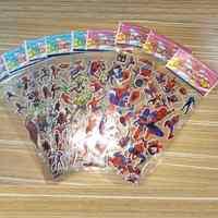 10 hojas vengadores DIY Pegatinas superhéroes Pegatinas juguete Iron Man Hulk Capitán América calcomanías para Scrapbook niños regalos