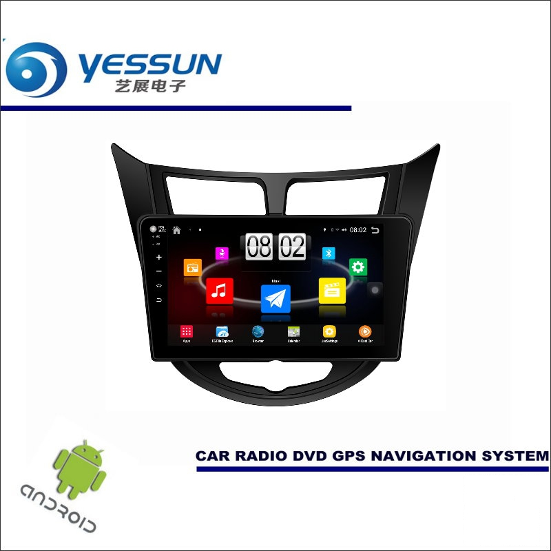 Yessun автомобиля Android мультимедийный плеер для Hyundai Verna/Accent RB Радио стерео GPS nav Navi Географические карты (без cd DVD) 10.1 HD Экран