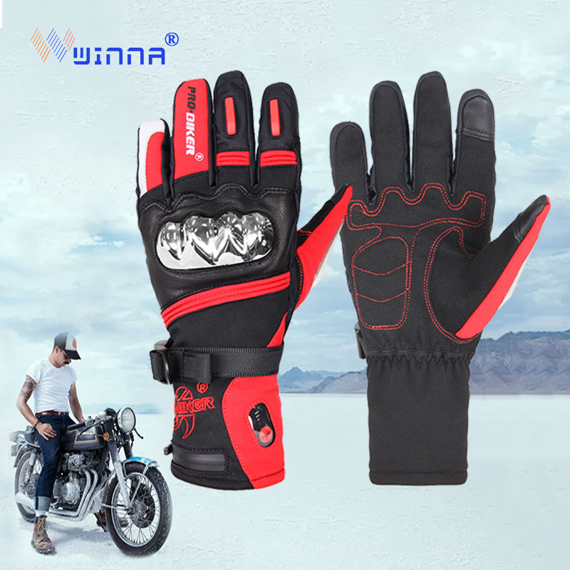 Motorcycle Heating Gloves Riding Racing Winter Outdoor Sports Battery Electric Heating Lasting Constant Temperature Adjustable|Cycling Gloves| |  - title=