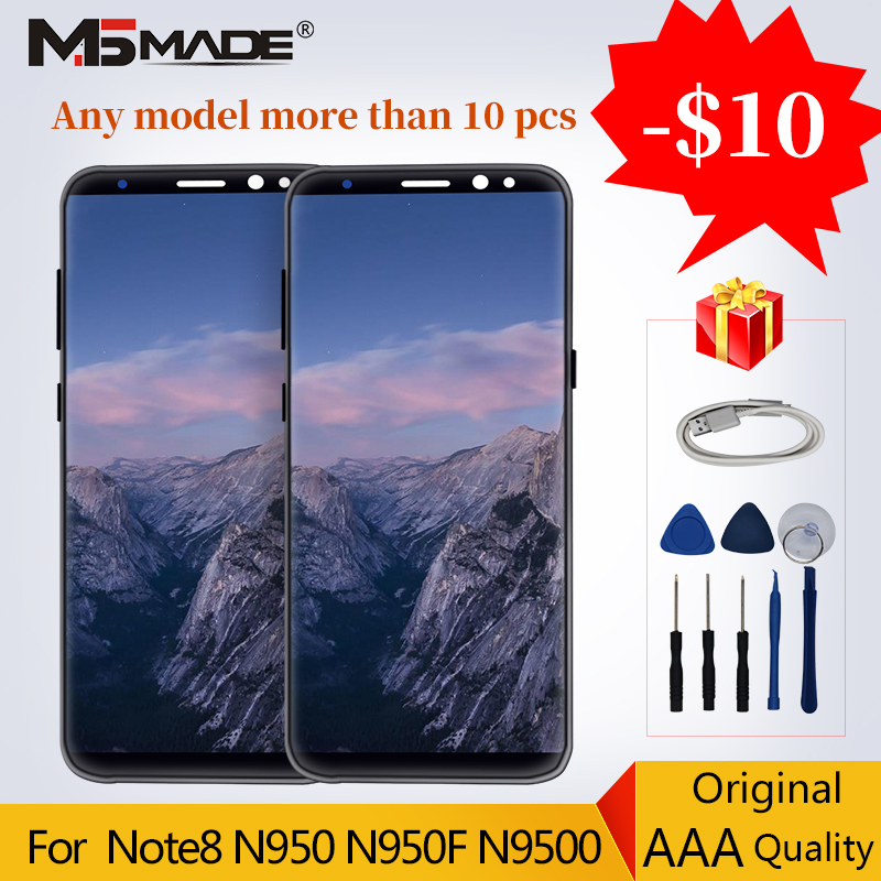 Original For <font><b>Samsung</b></font> Galaxy <font><b>NOTE</b></font> <font><b>8</b></font> N9500 <font><b>LCD</b></font> <font><b>Display</b></font> Touch Screen Note8 N9500F Digitizer Replacement Parts 100% Tested image