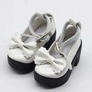 Image 4 - 1 para 1/4 BJD pu skórzane buty dla lalek dla małych 16 cali Sharon odzież dla lalek akcesoria zabawki 6.3*2.5cm
