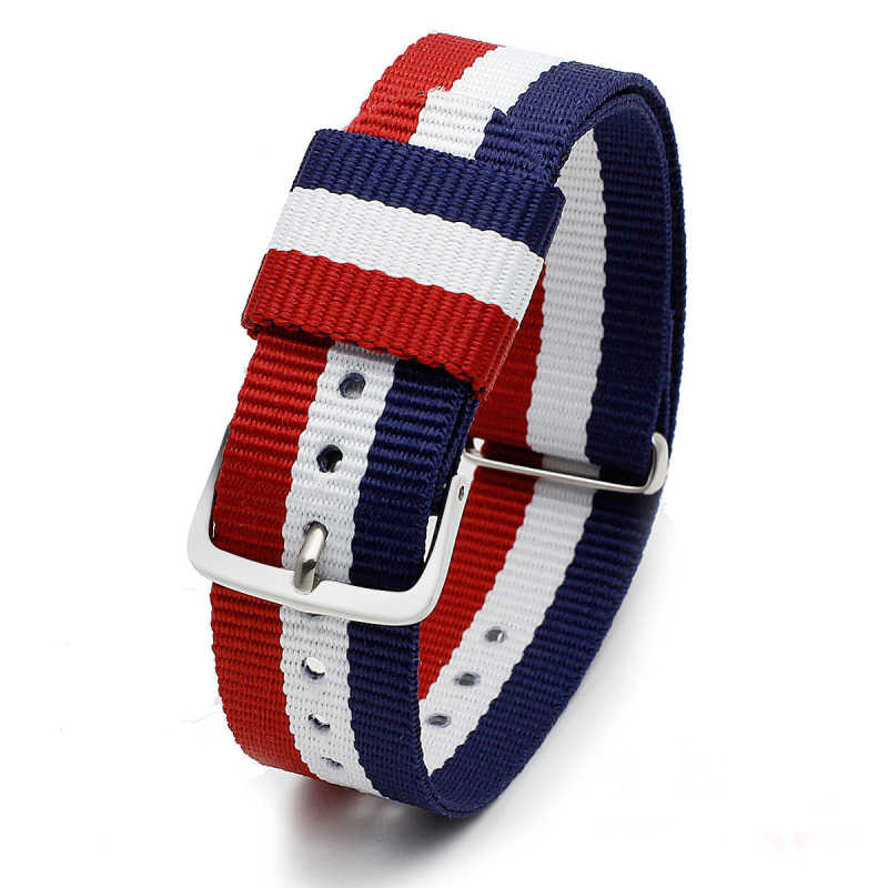 Correa de reloj de lona de nailon de 14, 18 y 20mm, correa de reloj, correa de correa para pulsera militar de la OTAN James Bond 007