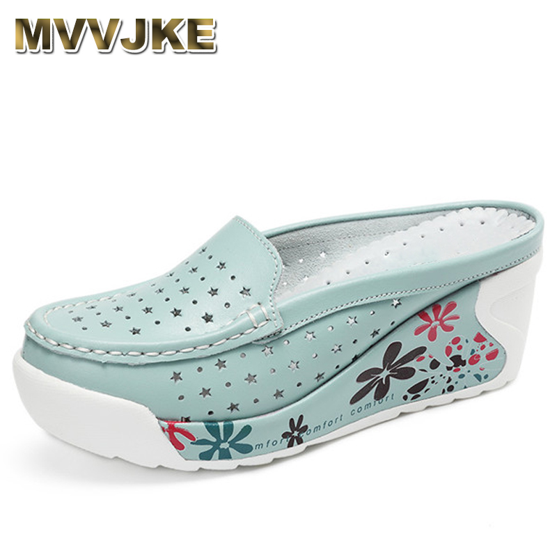 MVVJKE New arrival genuine leather summer shoes women creepers casual breathable flat platform shoes woman summer casual shoes women creepers shoes 2015 summer breathable white gauze hollow platform shoes women fashion sandals x525 50