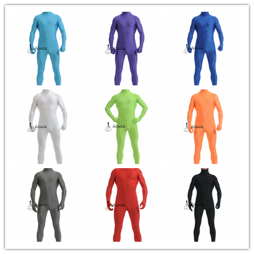 Ainclu Open Face Lycra Zentai CatSuit Multicolor cosplay zentai for halloween