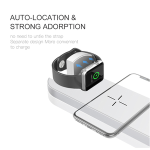 Image 4 - 10W  Qi Wireless Charger For iPhone X XS MAX XR 8 Fast Wireless Full load 3 in 1 Charging Pad for Airpods Apple Watch 4 3 2 1