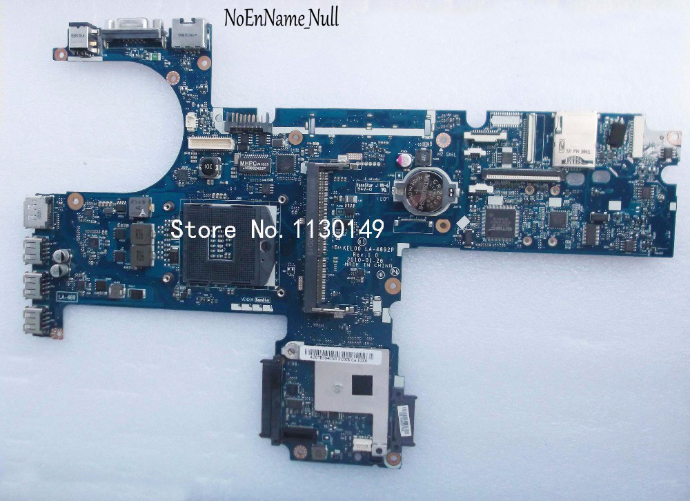 Free Shipping Laptop Motherboard 593840-001 For HP Probook 6540b 6440b Mainboard LA-4892P Tested 100% Working