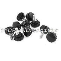 10PCS 6mmx15mm Male Thread 22mm Dia Round Head Thumb Screw Knurled Knobs