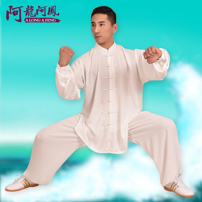 Хлопок и тай-чи одежда для мужчины и женщины, выполняющие боевые искусства Тайцзицюань упражнения спортивной одежды