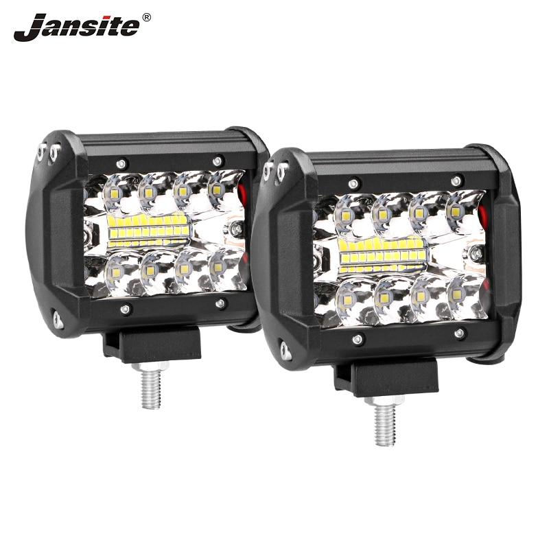 """Jansite 4 """"2 Stuks Auto Led Off-road Werk Licht Bar Power 60 W Combo Beam Waterdicht Ip67 Anti-druk Voor Suv/orv Crane Motorfiets Prijsafspraken Volgens Kwaliteit Van Producten"""