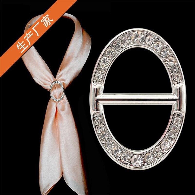 Women Custom Shawl Ring Clip Scarves Fastener Gold Silver